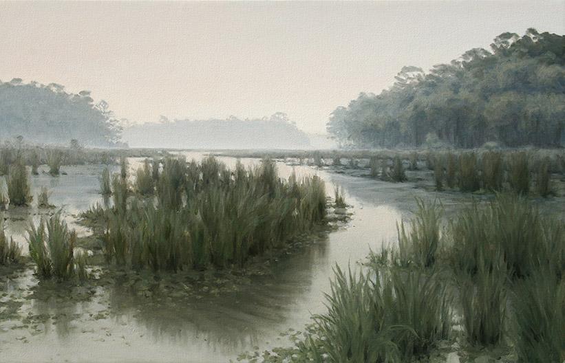 Painting of Savage Backwater Restoration