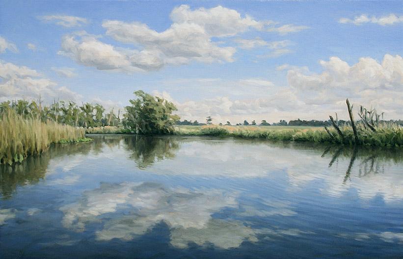 Painting of Cuckold Creek