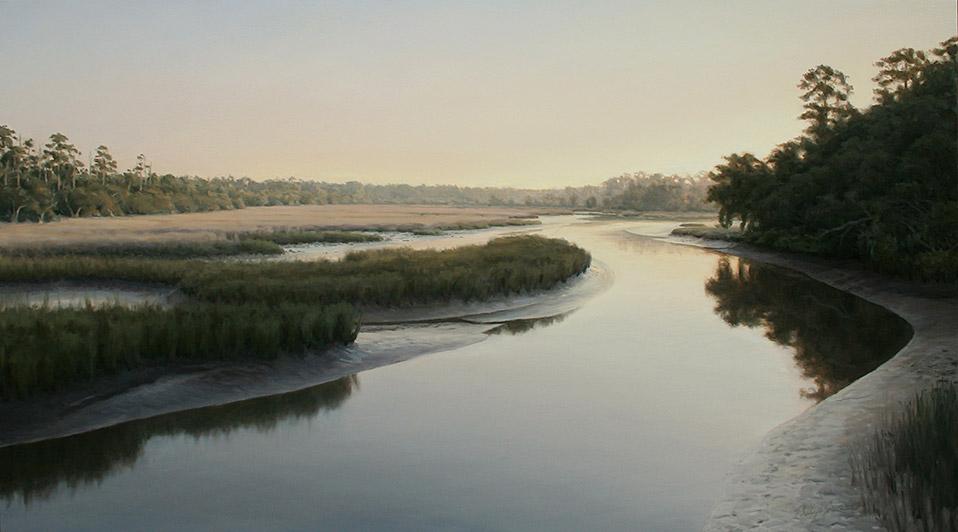 Painting of Toogadoo Creek