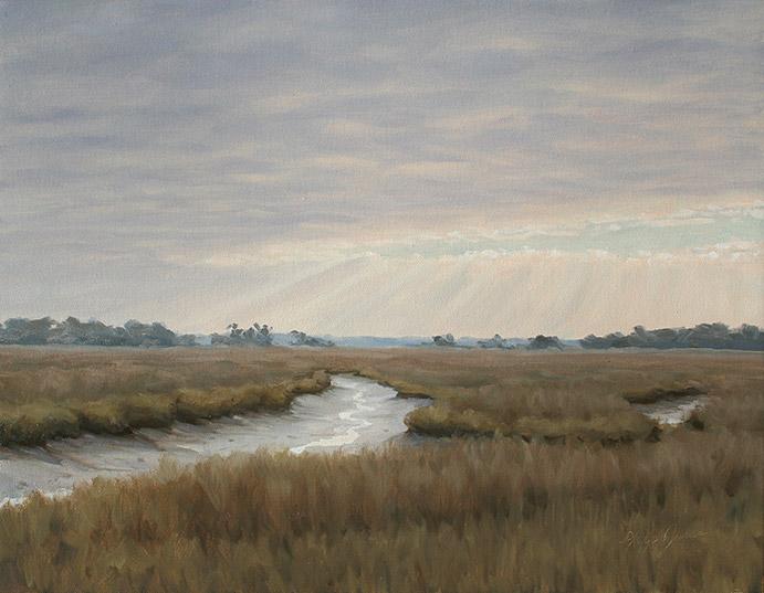 Painting of Stocks Creek