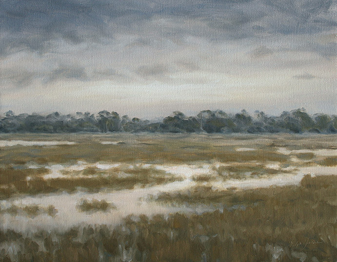 Painting of Wimbee Creek Marshes