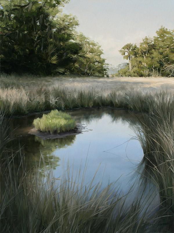 Painting of Marsh Pool