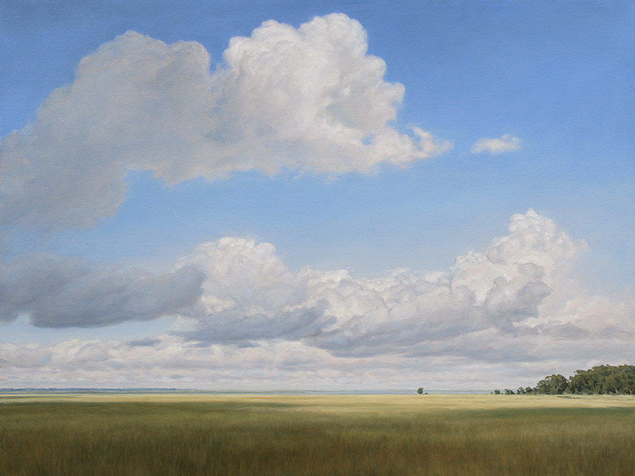 Painting of Ogeechee River Cumulus Clouds