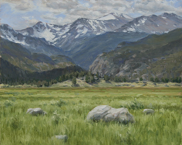 Painting of Moraine Park