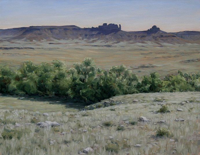 Painting of Steamboat Rock