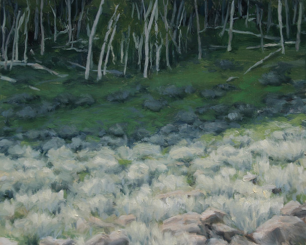 Painting of Aspen and Sagebrush