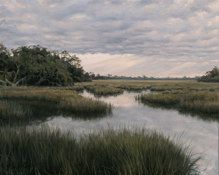 Painting of Marsh Edge