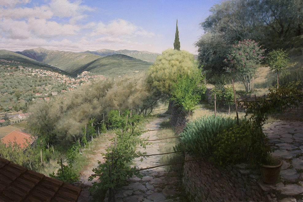 Painting of The Val Prino from Isolalunga