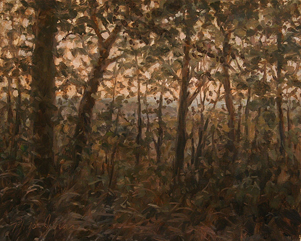 Painting of Piedmont Forest Twilight by Philip Juras