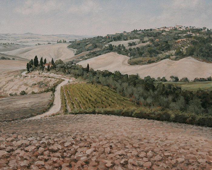 Painting of Late Summer Tuscany