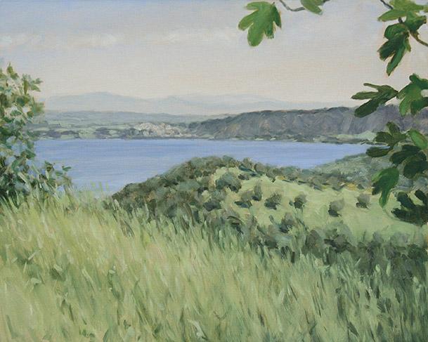 Painting of Lago di Bracciano