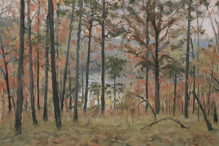 Painting of Burnt Hardwoods