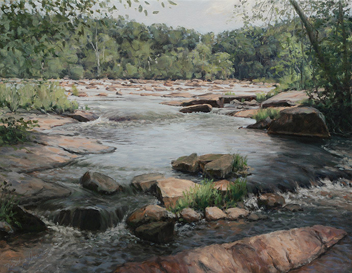 Painting of Anthony Shoals