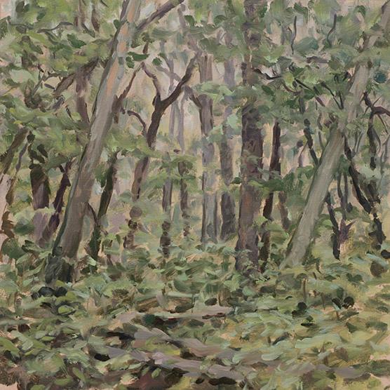 Painting of John De La Howe Forest
