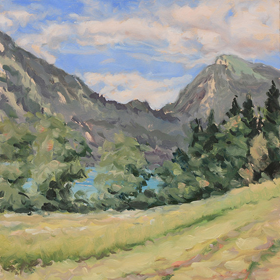 Painting of Walchensee