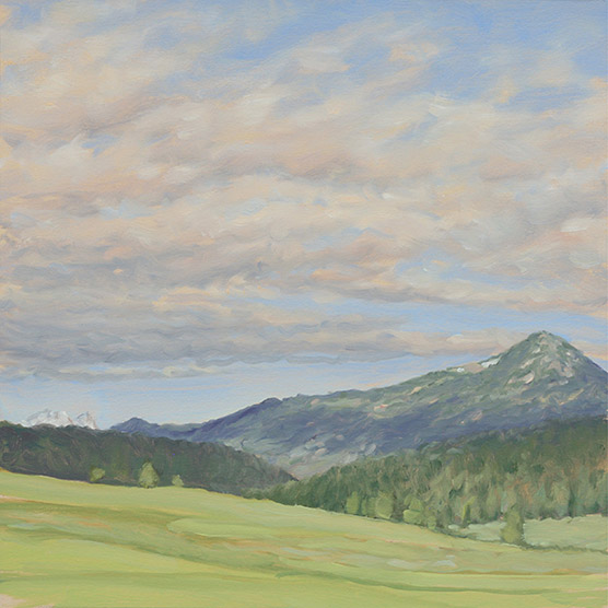 Painting of Morning Mountains