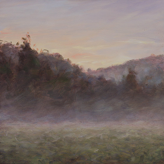 Painting of Old Field Evening