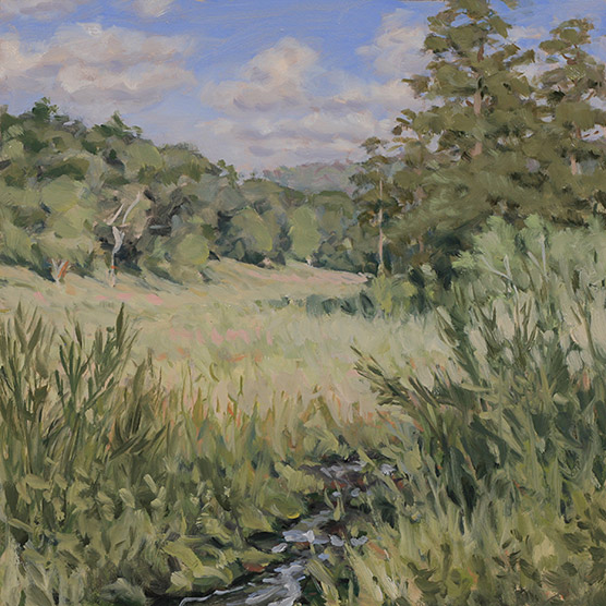 Painting of Old Field Morning