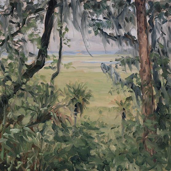 Painting of Paynes Prairie Bluff
