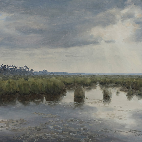 Painting of Lake Pontchartrain Marshes