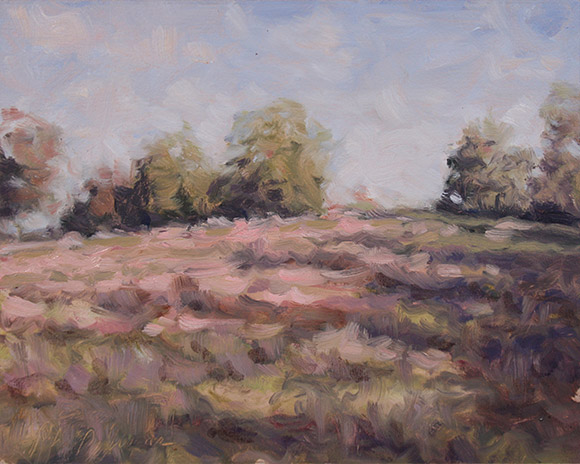 Painting of Fall Field