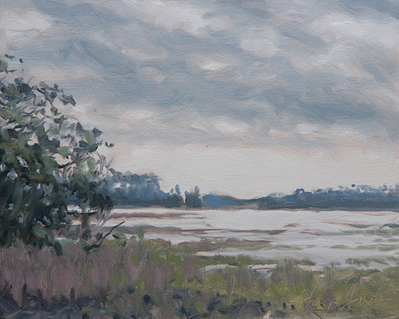 Painting of Looking East from Wormsloe