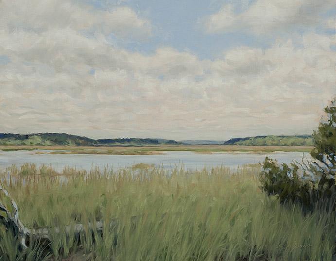 Painting of View toward Jones Narrows