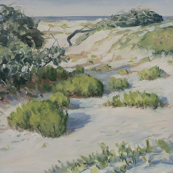 Painting of Gulf Dunes Study