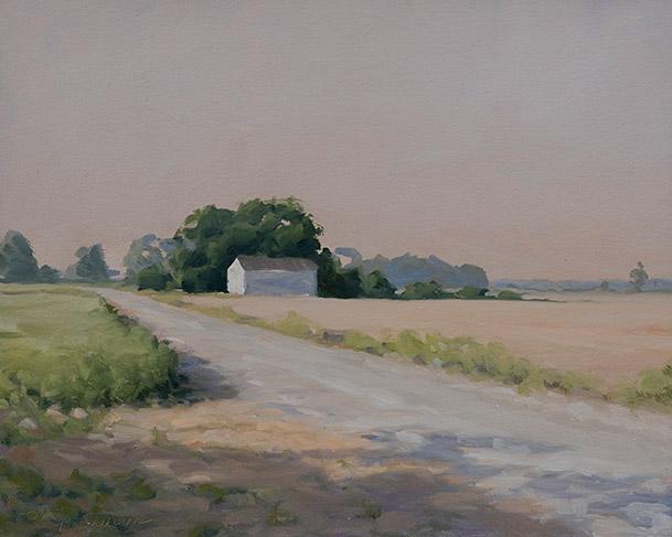 Painting of Delta Farmland