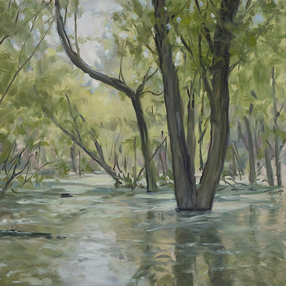 Painting of Flooded Willows