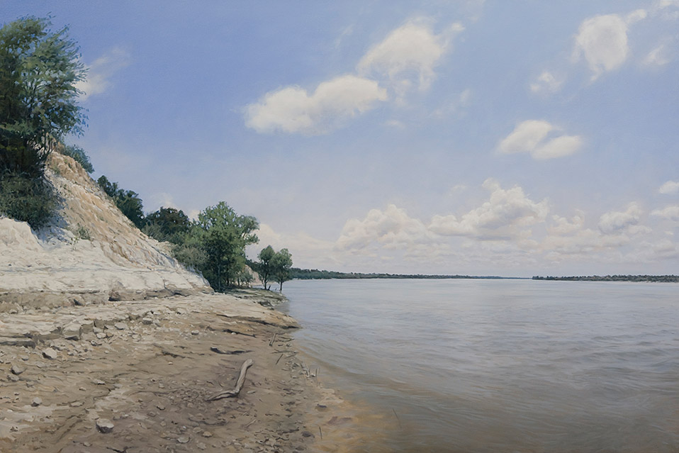 Painting of White Cliffs of the Mississippi