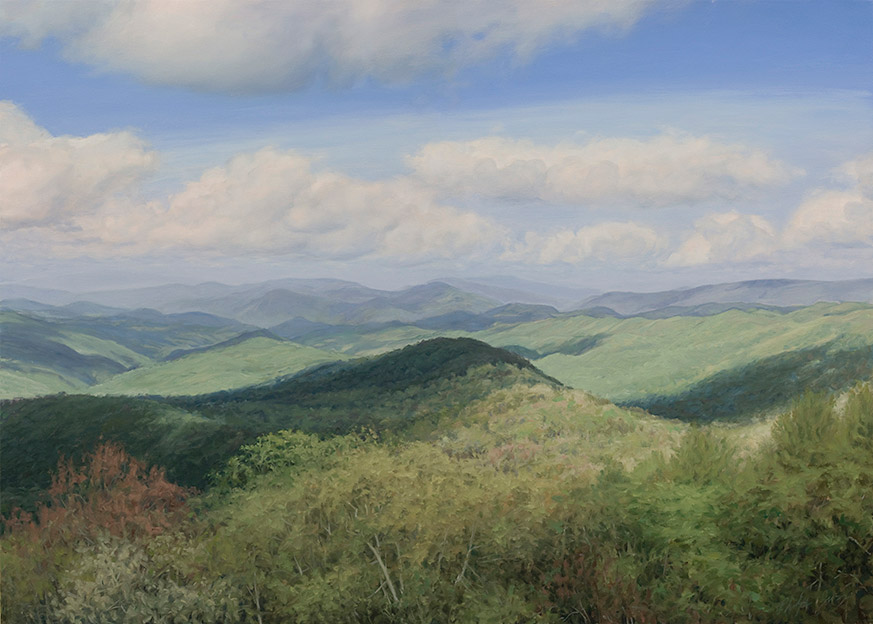 Painting of View From Wesser Bald