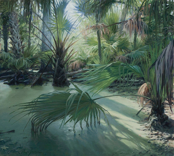Painting of Swamp Forest on Stagger Mud Lake