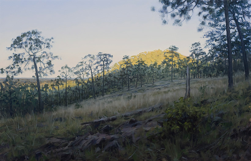 Painting of Burks Mountain