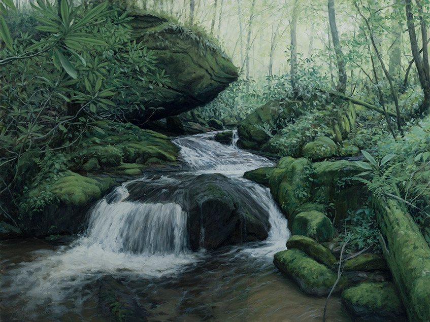 Painting of Connelly Creek