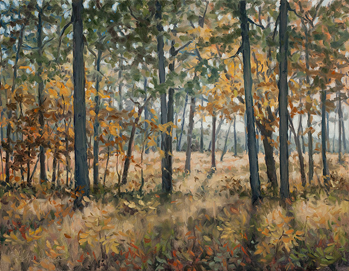 Painting of Tar Bluff Woods