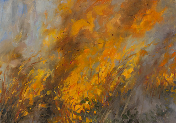 Painting of Flame Study