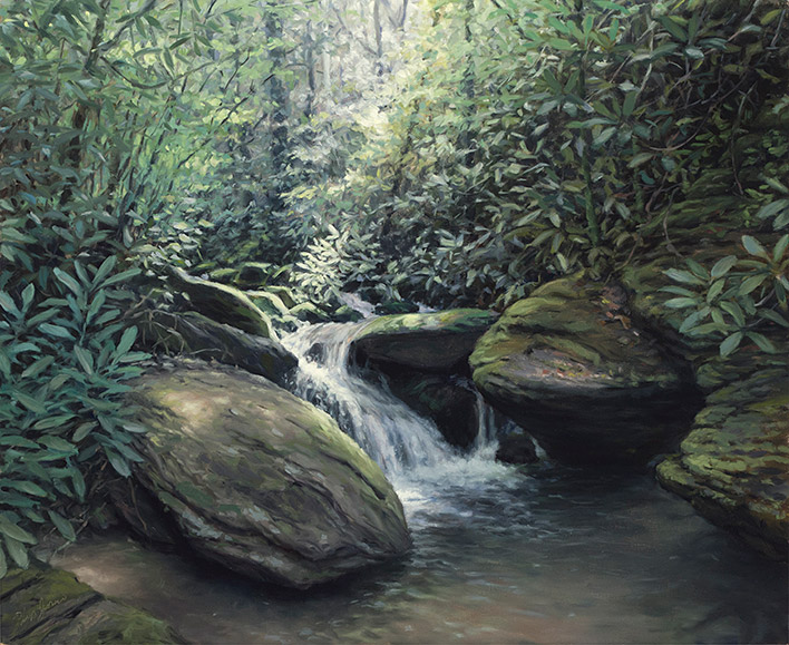 Painting of Curtis Creek