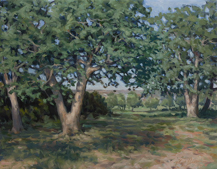 Painting of Post Oaks
