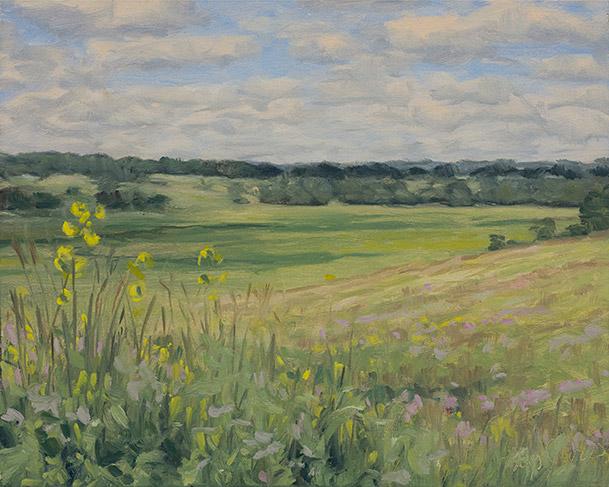 Painting of Spring Creek Prairie 2