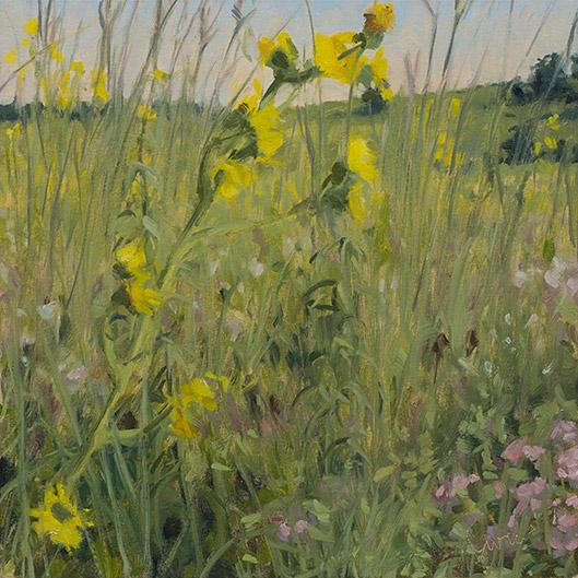 Painting of Poplar Creek Prairie