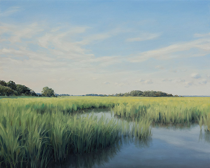 Painting of Hampton River Marsh