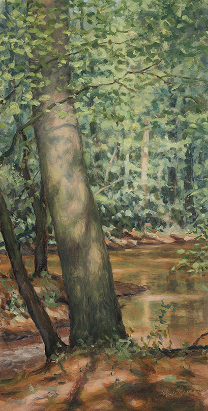 Painting of Side Channel of the North Oconee River