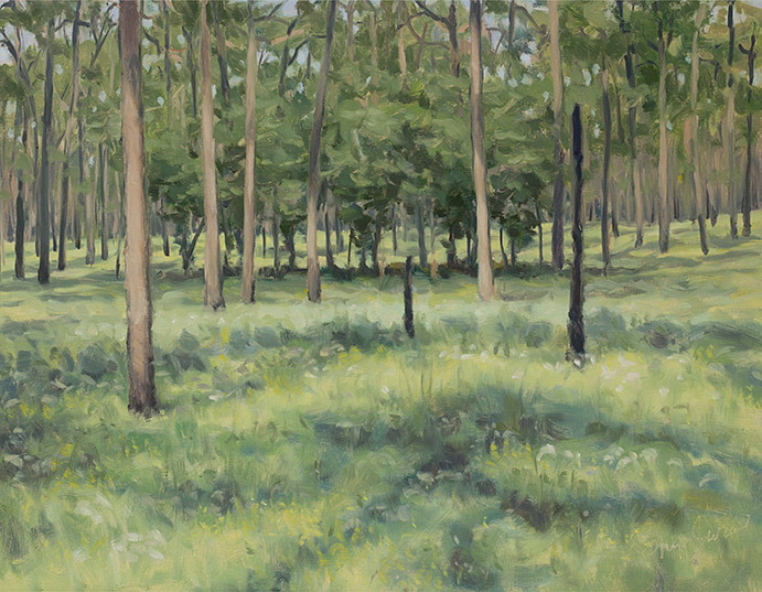 Painting of Hickory Grove