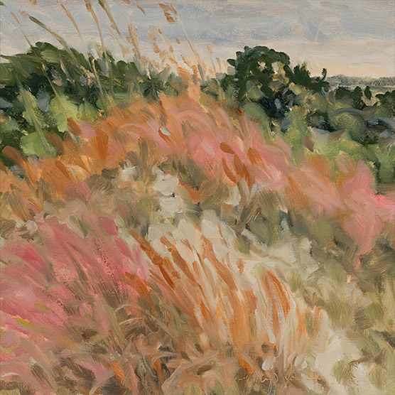 Painting of Broomsedge and Muhly Grass
