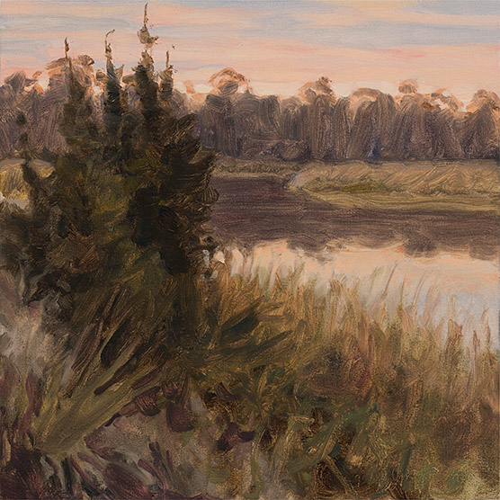 Painting of Cedars by Mosquito Creek