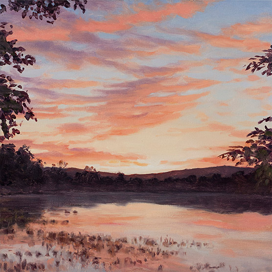 Painting of Sawmill Pond