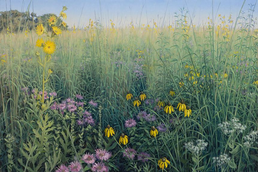 Painting of Inspired by Poplar Creek Prairie (Late July)