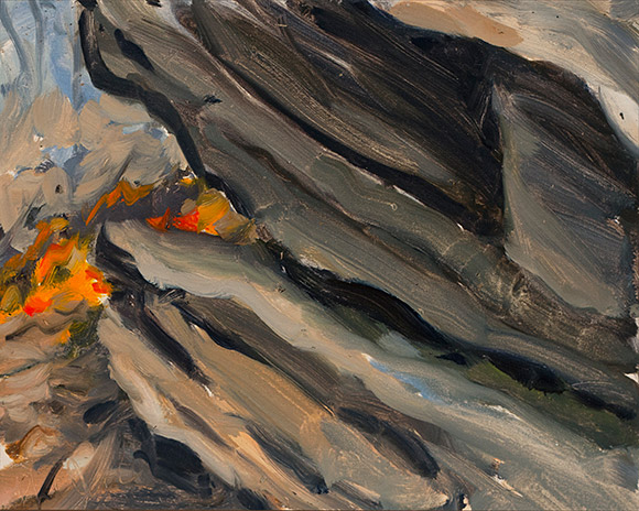 Painting of Outcrop Study