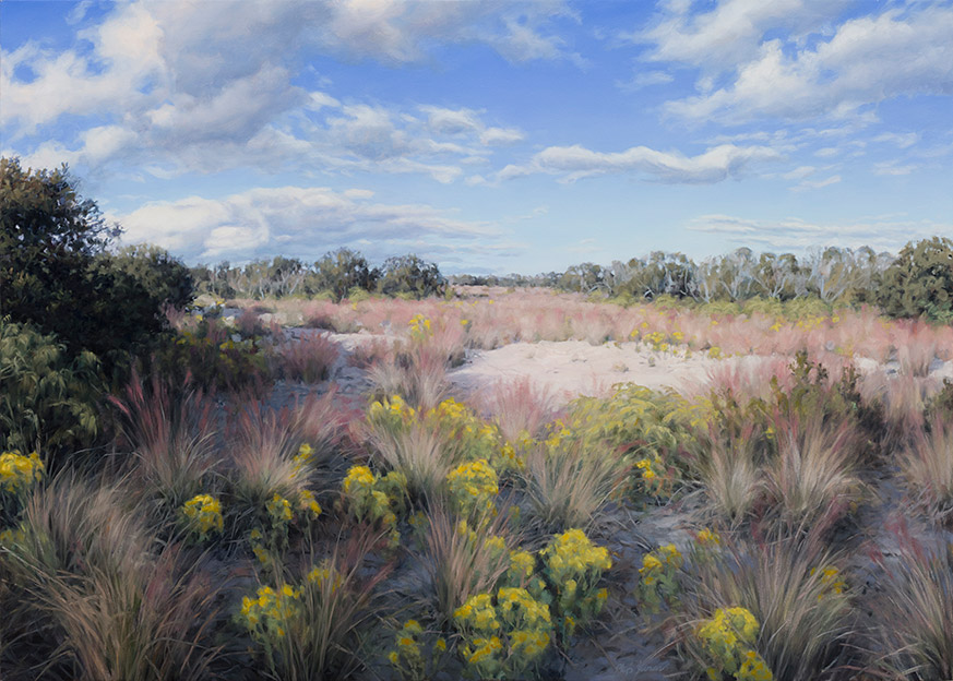 Painting of Muhly Grass Meadows